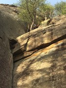 Rock Climbing Photo: Gorgeous route. (had to flip to upload..)