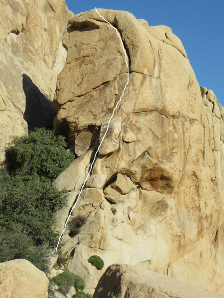 An old rusted pin was found in this crack that was placed before we started climbing here in the mid '80s.