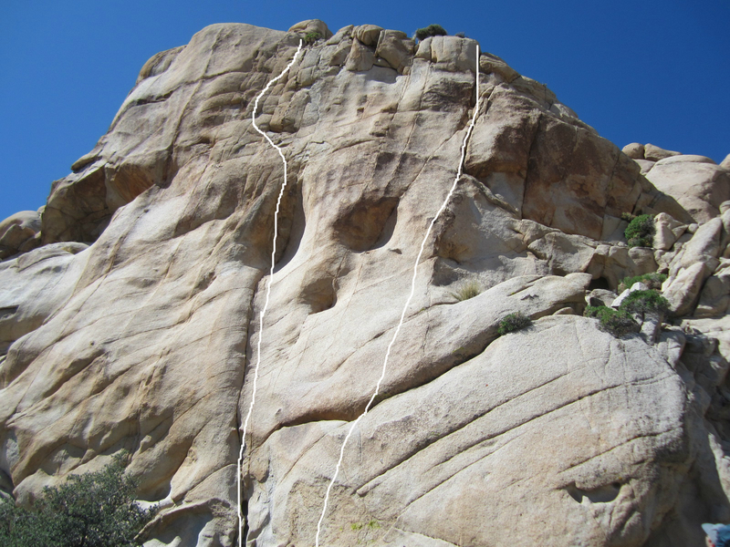 Rock Climbing Photo: Sim Sim Salabim is the left line and Monkey Lips i...