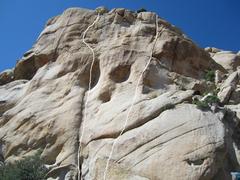 Rock Climbing Photo: Sim Sim Salabim is the left line and Monkey Lips i...
