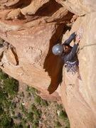 Rock Climbing Photo: The final bulge on P2.