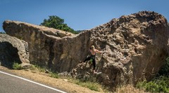 Rock Climbing Photo: Hallway Boulder from Painted Cave Rd. Nice little ...