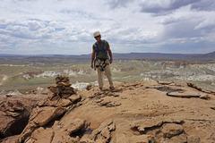 Rock Climbing Photo: Roy on top.