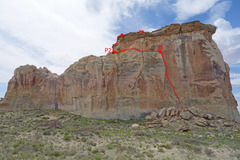 Rock Climbing Photo: The Other Side of History topo.