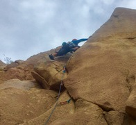 Rock Climbing Photo: Starting up the dihedral
