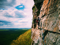 Rock Climbing Photo: Chris Gregory on the third pitch of Yellow Ridge (...