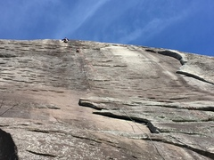 Rock Climbing Photo: The route maestro Nathan FA'ing a new classic rout...