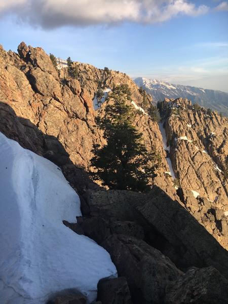 Rock Climbing Photo: Looking across the traverse from somewhere near th...