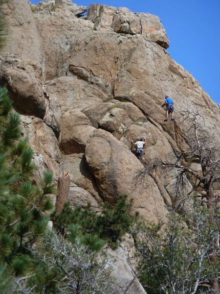 Rock Climbing Photo: Climbers on the Gold Wall, Holcomb Valley Pinnacle...