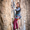 DrJen on lead at Smith Rock's Five Gallon Buckets