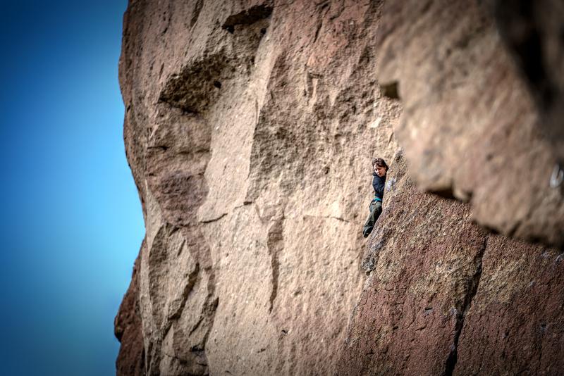 Rock Climbing Photo: Dr. J, peaking, on Revelations