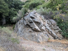 Rock Climbing Photo: The boulder up the trail from the top of the Wildw...
