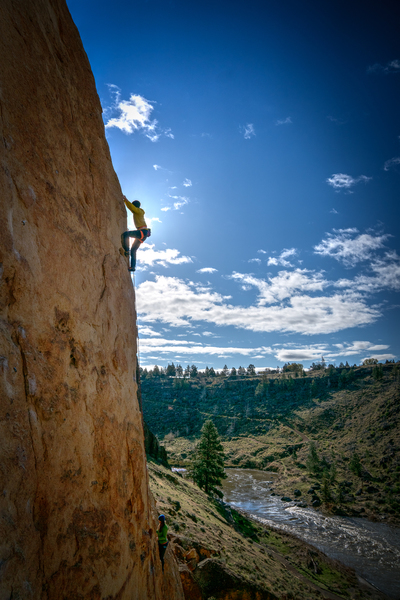 Rock Climbing Photo: Ian M warming up on a beautiful Smith Rock morning...