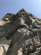 Rock Climbing Photo: The start of Via Dello Spigolo