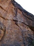 Rock Climbing Photo: Climbing an unknown (but excellent!) climb.