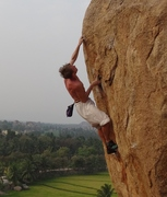 Rock Climbing Photo: Don't be like me; wear a shirt, a hat and sunscree...