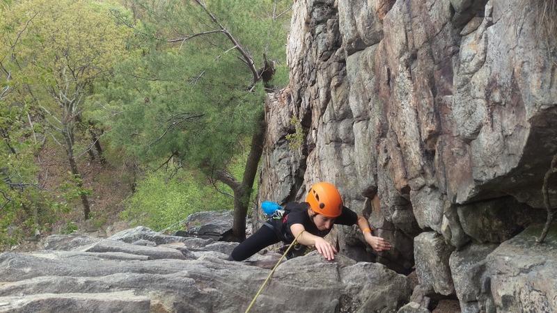 Rock Climbing Photo: Some steep 5.3!
