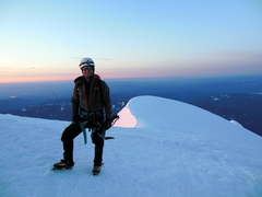 Rock Climbing Photo: Summit of MT Hood after DKH solo