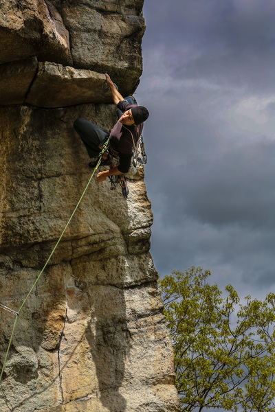 Rock Climbing Photo: CV on low crux.