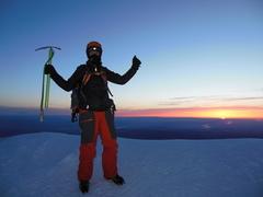 Rock Climbing Photo: Darwin's Summit Celebration.  He soloed the regula...