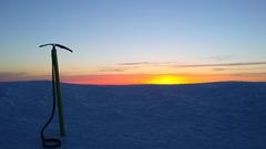 Rock Climbing Photo: Mt Hood Summit Sunrise.