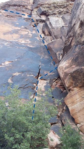 Rock Climbing Photo: 5.7 freak out