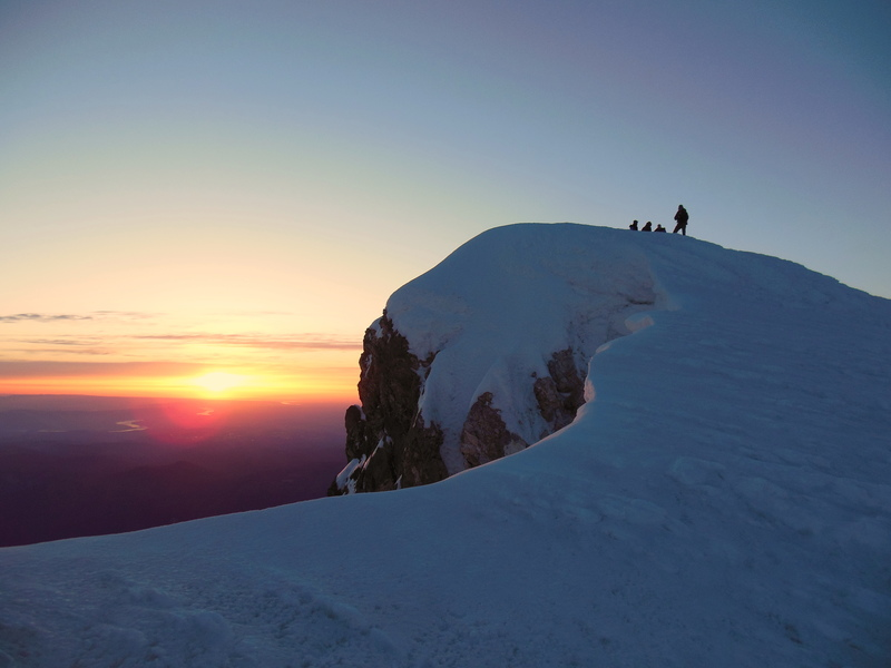 Climbers on the Summit of Hood