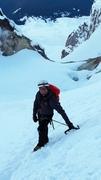 Rock Climbing Photo: Myself just below the bergschrund.