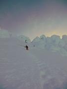 Rock Climbing Photo: Darwin descending the Hogsback