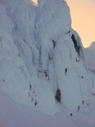 Rock Climbing Photo: Climber below the DKH.