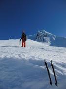 Darwin almost back to the ski area.