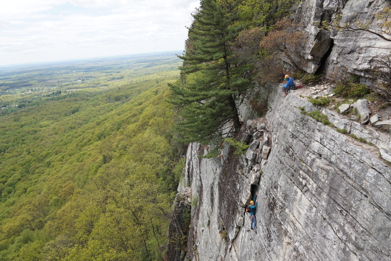 Rock Climbing Photo: Climbers on the first pitch of limelight from the ...