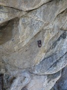 Rock Climbing Photo: First bolt before replacement.