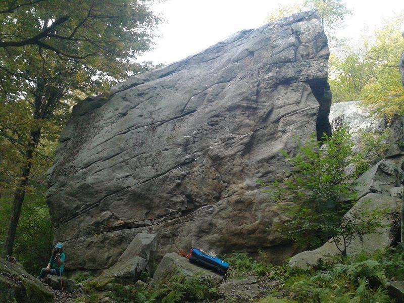 Rock Climbing Photo: Three-quarters of the way left.