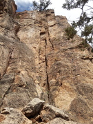 Rock Climbing Photo: The rope is hanging directly on the route.