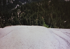 Rock Climbing Photo: The spot where I toped out on Tokopah Dome. First ...