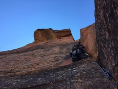 Rock Climbing Photo: Doug Goodrich heading up the first section of pitc...