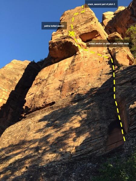 Rock Climbing Photo: The Dark Tower at sunset.