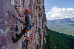 Rock Climbing Photo: I thought we had left the power drill at home.  I ...