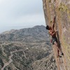 Mark Mellott at the end of the crux on Rage