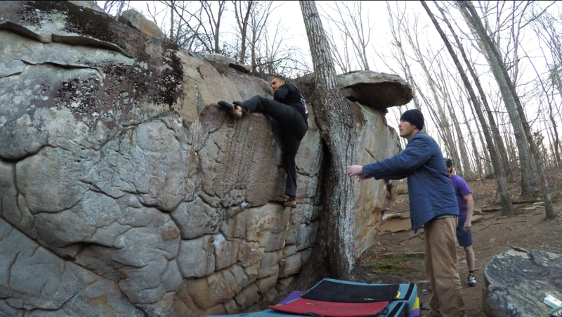 Getting to the crux of this strong V4 problem.