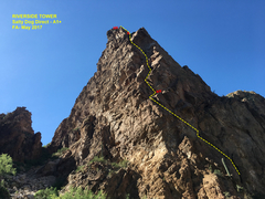 Rock Climbing Photo: Salty Dog Direct Topo