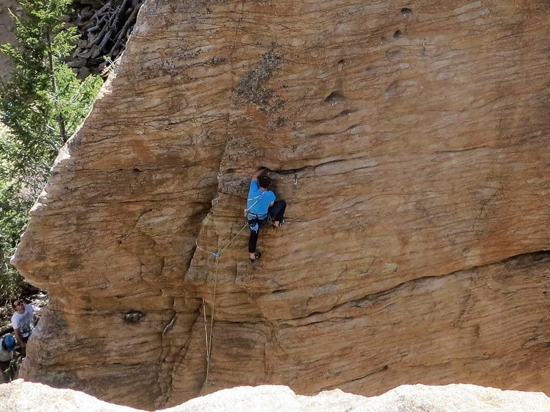Exiting the flake at the horizontal pod.<br> <br> Photo: Mark Singer.
