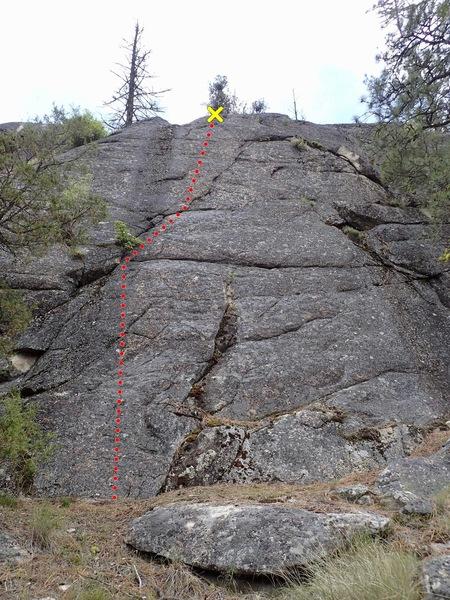 Rock Climbing Photo: Lightning Bolt topo