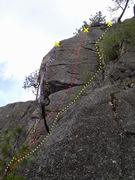 Rock Climbing Photo: Main Area - left side topo