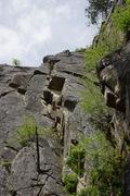Rock Climbing Photo: Climber nearing the top.