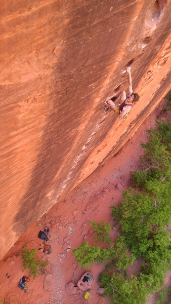 Rock Climbing Photo: Holds big enough to stop and enjoy the ride.  Don'...