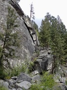 Rock Climbing Photo: Far right (east) side - with stairs leading to the...