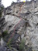 Rock Climbing Photo: Tender Foot topo
