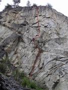 Rock Climbing Photo: Where Eagles Dare topo